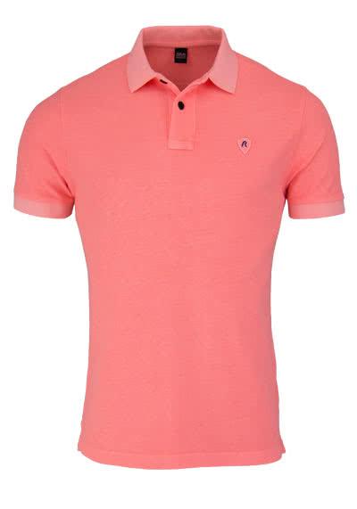 REPLAY Kurzarm Poloshirt geknöpfter Kragen lachs - Hemden Meister