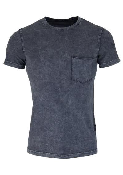 REPLAY Kurzarm T-Shirt Rundhals Brusttasche Used anthrazit - Hemden Meister