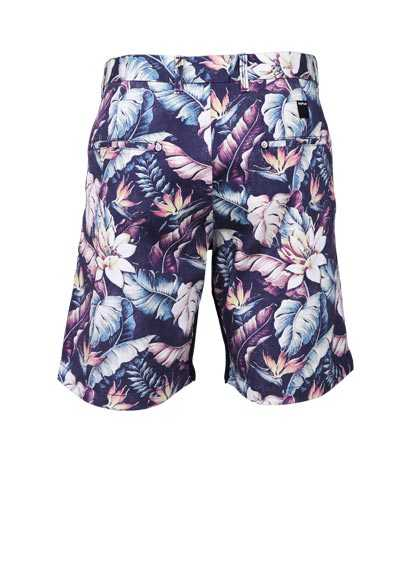 REPLAY Comfort Fit Shorts Allover Druck Muster blau