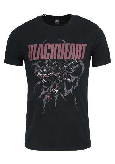 REPLAY Halbarm T-Shirt Rundhals Statement-Print schwarz - Hemden Meister