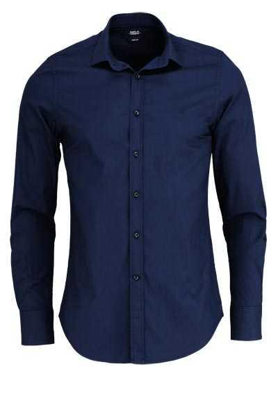REPLAY Slim Fit Hemd New Kent Kragen Baumwolle nachtblau - Hemden Meister