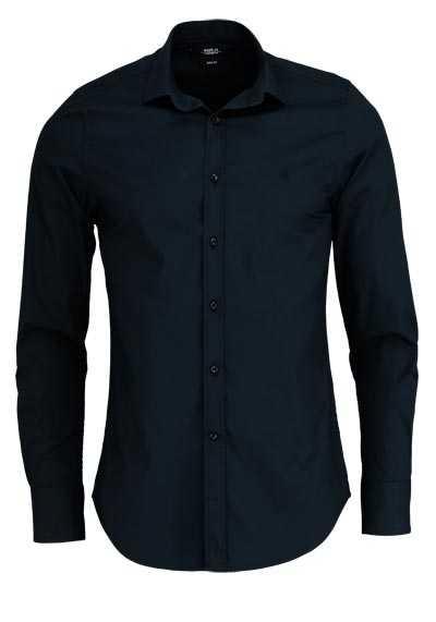 REPLAY Slim Fit Hemd New Kent Kragen Baumwolle schwarz - Hemden Meister