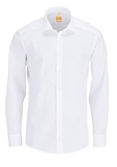 REDMOND Body Cut Hemd Langarm New Kent Kragen weiß - Hemden Meister