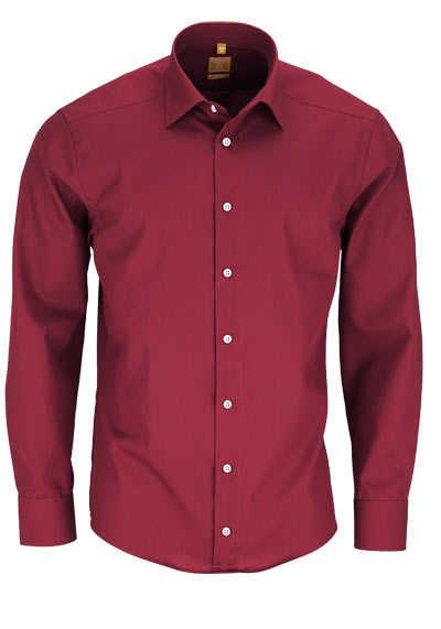 REDMOND Body Cut Hemd Langarm New Kent Kragen mittelrot - Hemden Meister