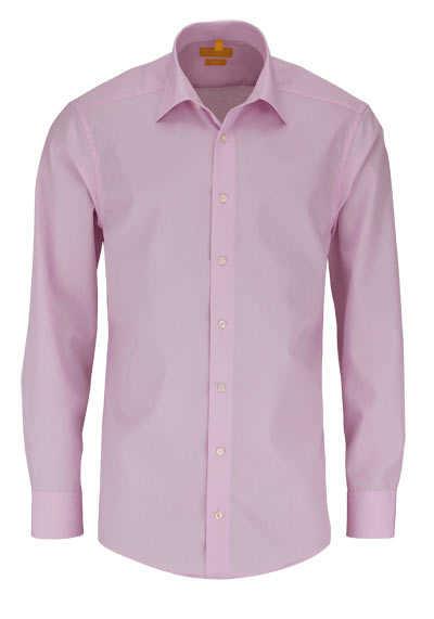 REDMOND Body Cut Hemd Langarm New Kent Kragen rosa