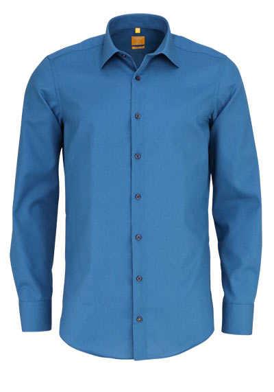REDMOND Body Cut Hemd Langarm New Kent Kragen blau - Hemden Meister