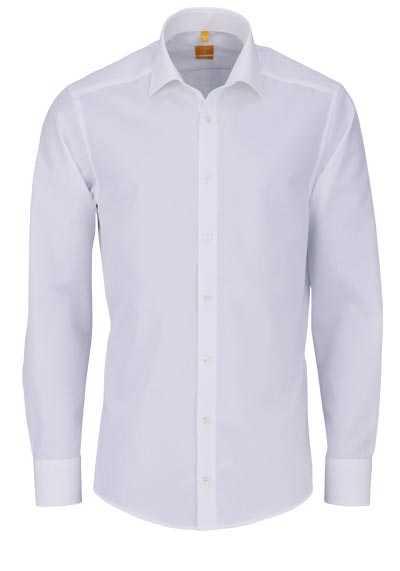 REDMOND Body Cut Hemd Langarm New Kent Kragen beige - Hemden Meister