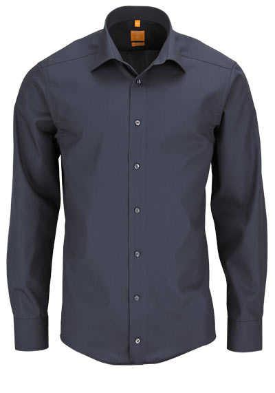 REDMOND Body Cut Hemd Langarm New Kent Kragen dunkelgrau - Hemden Meister