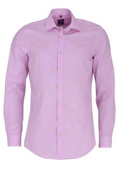 REDMOND 4 Limited Hemd Langarm Popeline Stretch rosa - Hemden Meister