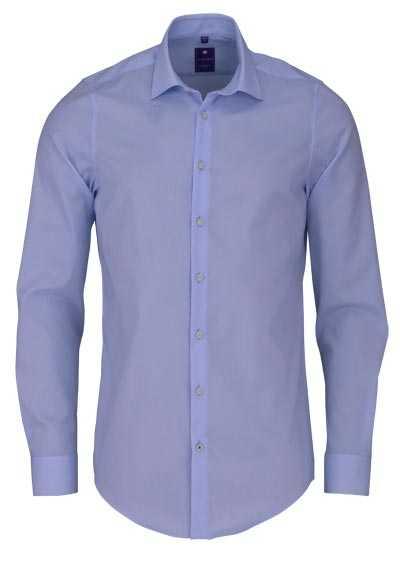 REDMOND 4 Limited Hemd Langarm Popeline Stretch hellblau