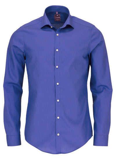 REDMOND 4 Limited Hemd Langarm Popeline Stretch mittelblau - Hemden Meister