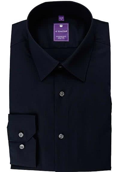 REDMOND 4 Limited Hemd Langarm Popeline Stretch nachtblau - Hemden Meister
