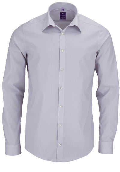 REDMOND 4 Limited Hemd Langarm Popeline Stretch hellgrau - Hemden Meister