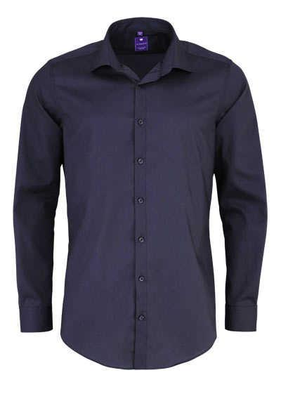 REDMOND 4 Limited Hemd Langarm Popeline Stretch dunkelgrau - Hemden Meister