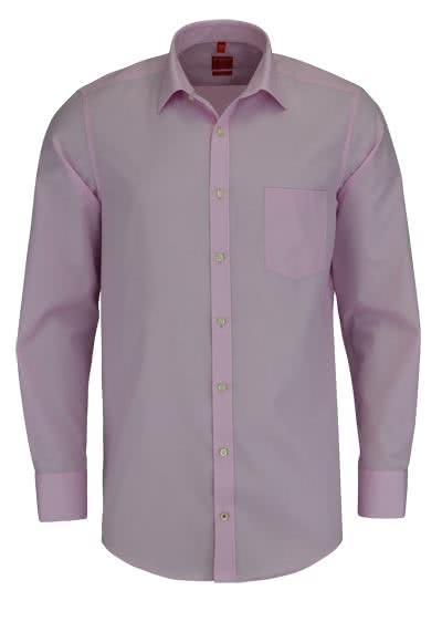REDMOND Office Hemd Langarm mit New Kent Kragen rosa - Hemden Meister