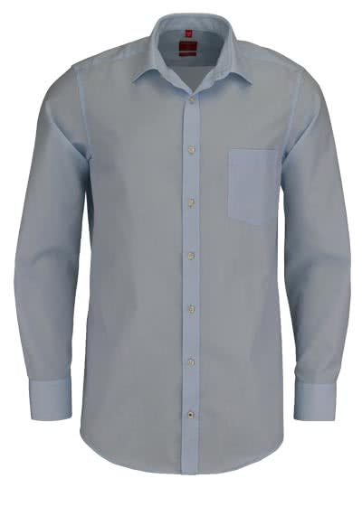REDMOND Office Hemd Langarm mit New Kent Kragen hellblau