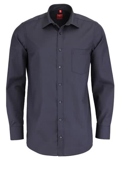 REDMOND Office Hemd Langarm mit New Kent Kragen dunkelgrau - Hemden Meister