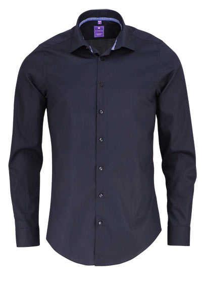 REDMOND 4 Limited Hemd Langarm Natural Stretch schwarz - Hemden Meister