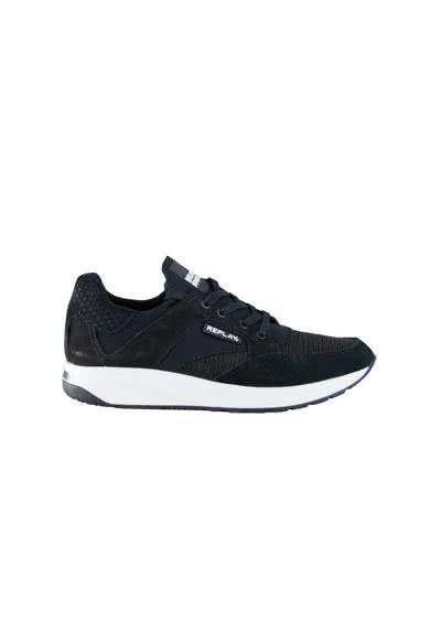 REPLAY Sneaker Schnürer Materialmix schwarz - Hemden Meister