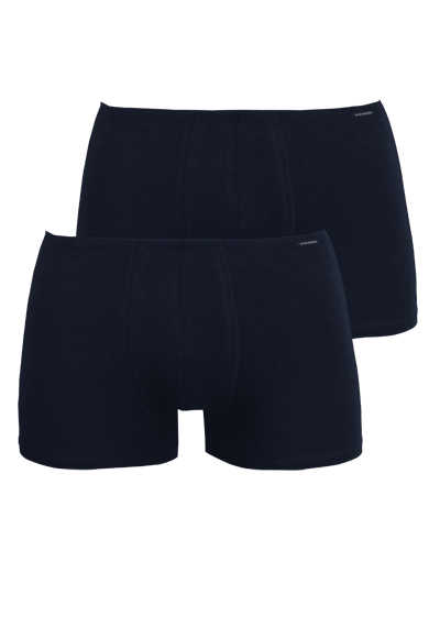 SCHIESSER Shorts Cotton Essentials Doppelpack nachtblau