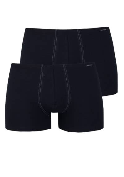 SCHIESSER Shorts  Cotton Essentials Doppelpack schwarz