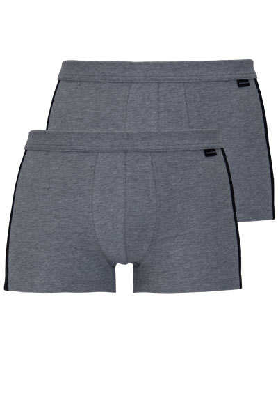 SCHIESSER Shorts Essentials Cotton Stretch Doppelpack anthrazit