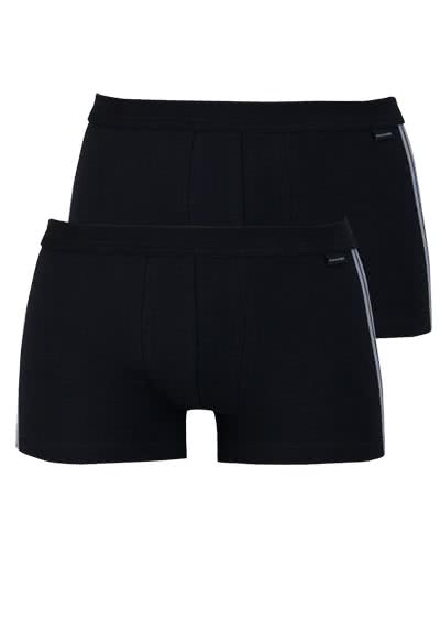 SCHIESSER Shorts Essentials Cotton Stretch Doppelpack schwarz