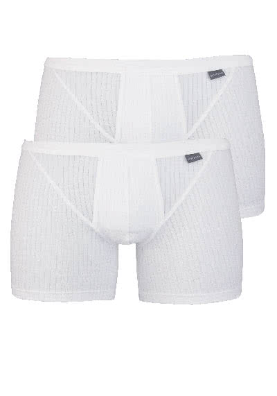 SCHIESSER Shorts Essentias Authentic Doppelpack weiß