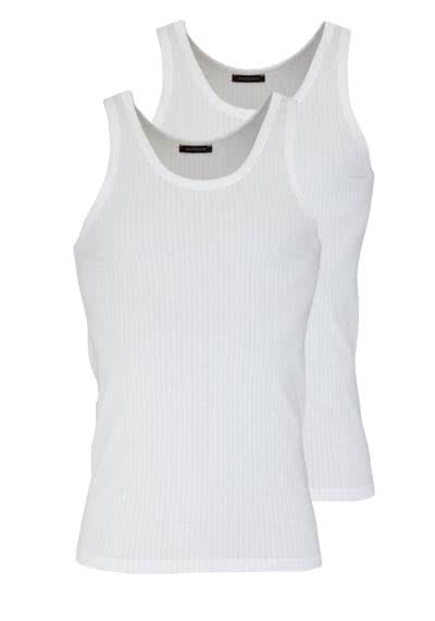 SCHIESSER ärmelloses Authentic Shirt Essentials Doppelpack weiß - Hemden Meister