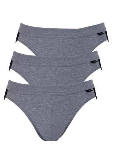 SCHIESSER Rio Slip Essentials Cotton Stretch 3er Pack anthrazit - Hemden Meister