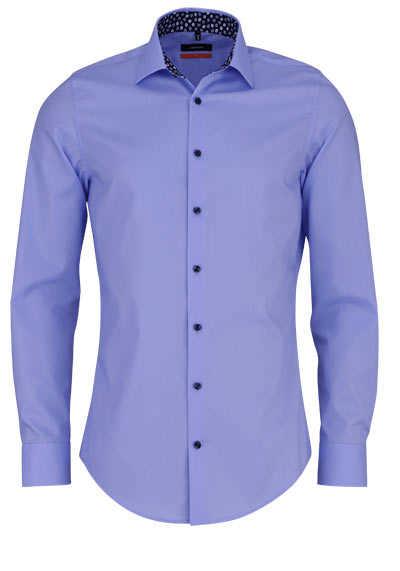 SEIDENSTICKER Slim Hemd Langarm New Kent Kragen hellblau - Hemden Meister
