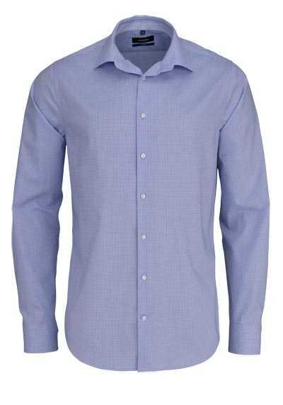 SEIDENSTICKER Tailored Hemd extra langer Arm Karo blau - Hemden Meister