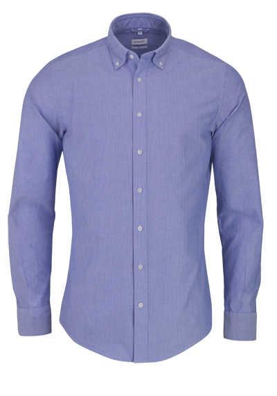 SEIDENSTICKER Slim Hemd Langarm Button Down Kragen Oxford blau - Hemden Meister