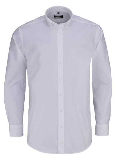SEIDENSTICKER Comfort Hemd Langarm Button Down Kragen Oxford weiß