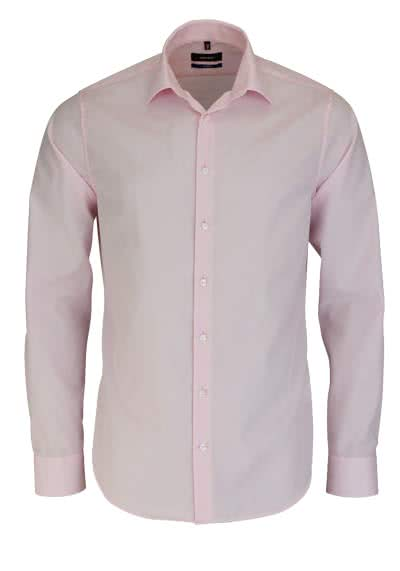 SEIDENSTICKER Tailored Hemd Langarm New Kent Kragen Chambray rosa