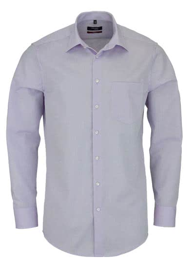 SEIDENSTICKER Modern Hemd Langarm New Kent Kragen Chambray flieder - Hemden Meister