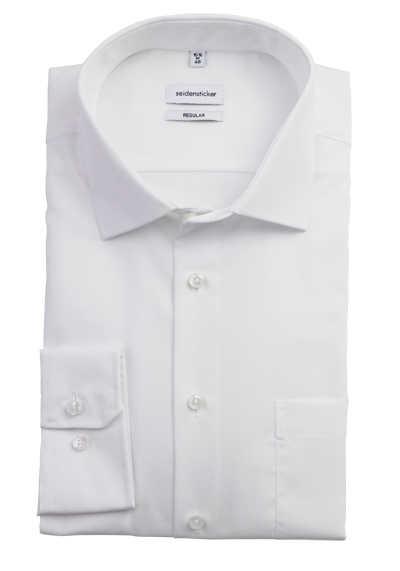 SEIDENSTICKER Modern Hemd extra langer Arm Fil à Fil weiß - Hemden Meister