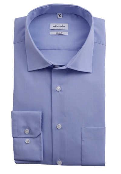 SEIDENSTICKER Modern Hemd extra langer Arm Fil à Fil hellblau - Hemden Meister