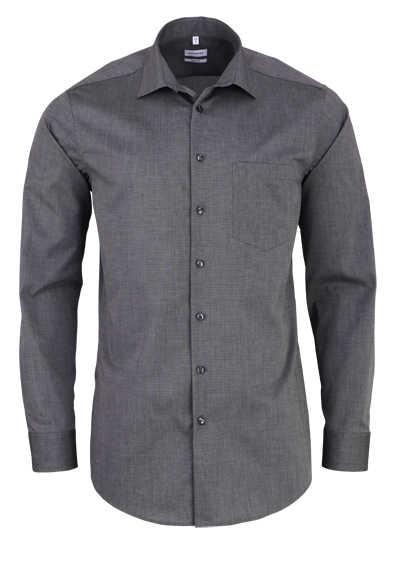 SEIDENSTICKER Modern Hemd Langarm New Kent Kragen Fil à Fil mittelgrau - Hemden Meister