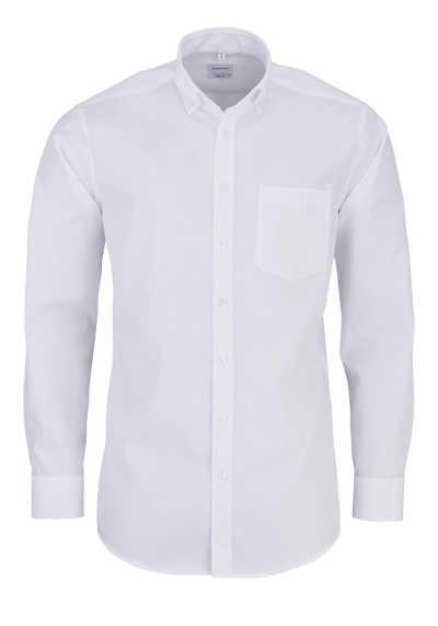SEIDENSTICKER Modern Hemd Langarm Button Down Kragen Fi là Fil weiß - Hemden Meister