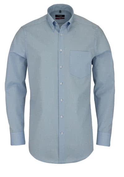 SEIDENSTICKER Modern Hemd Langarm Button Down Kragen Fil a Fil blau - Hemden Meister