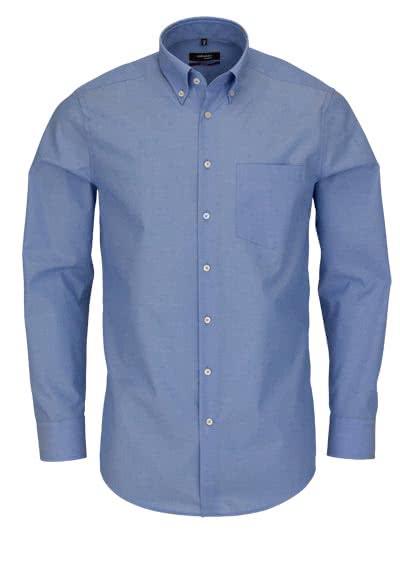 SEIDENSTICKER Modern Hemd Langarm Button Down Fil à Fil mittelblau - Hemden Meister