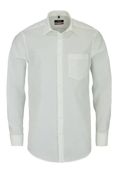 SEIDENSTICKER Modern Hemd Langarm ohne Manschettenknopf Popeline beige - Hemden Meister