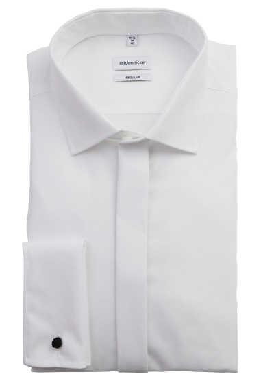 SEIDENSTICKER Modern Galahemd Langarm ohne Manschettenknopf weiß - Hemden Meister