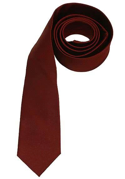 SEIDENSTICKER Krawatte aus reiner Seide 7 cm breit dunkelrot - Hemden Meister