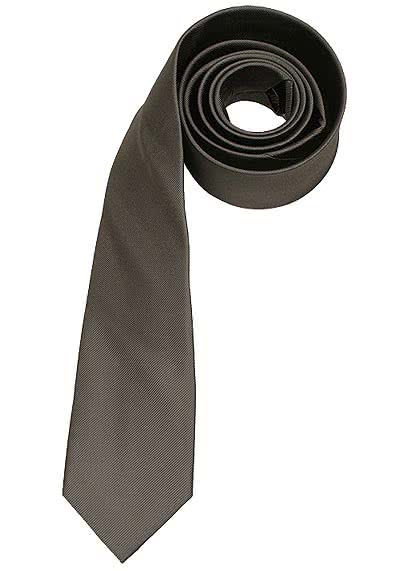 SEIDENSTICKER Krawatte aus reiner Seide 7 cm breit grau - Hemden Meister