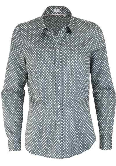 SEIDENSTICKER Modern Bluse Langarm Hemdkragen Muster navy - Hemden Meister