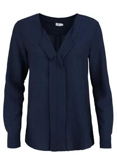 SEIDENSTICKER Modern Bluse Langarm V-Ausschnitt mit Revers nachtblau - Hemden Meister