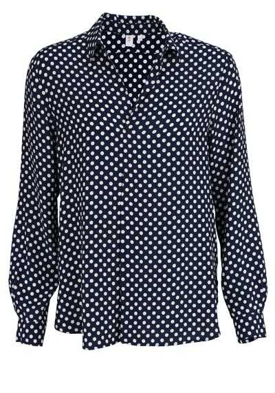 SEIDENSTICKER Modern Bluse Langarm Hemdenkragen Punkte nachtblau - Hemden Meister