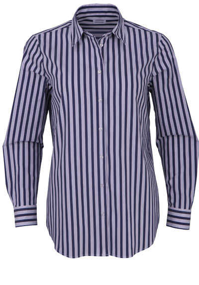 SEIDENSTICKER Modern Bluse Langarm Streifen dunkelgrau - Hemden Meister